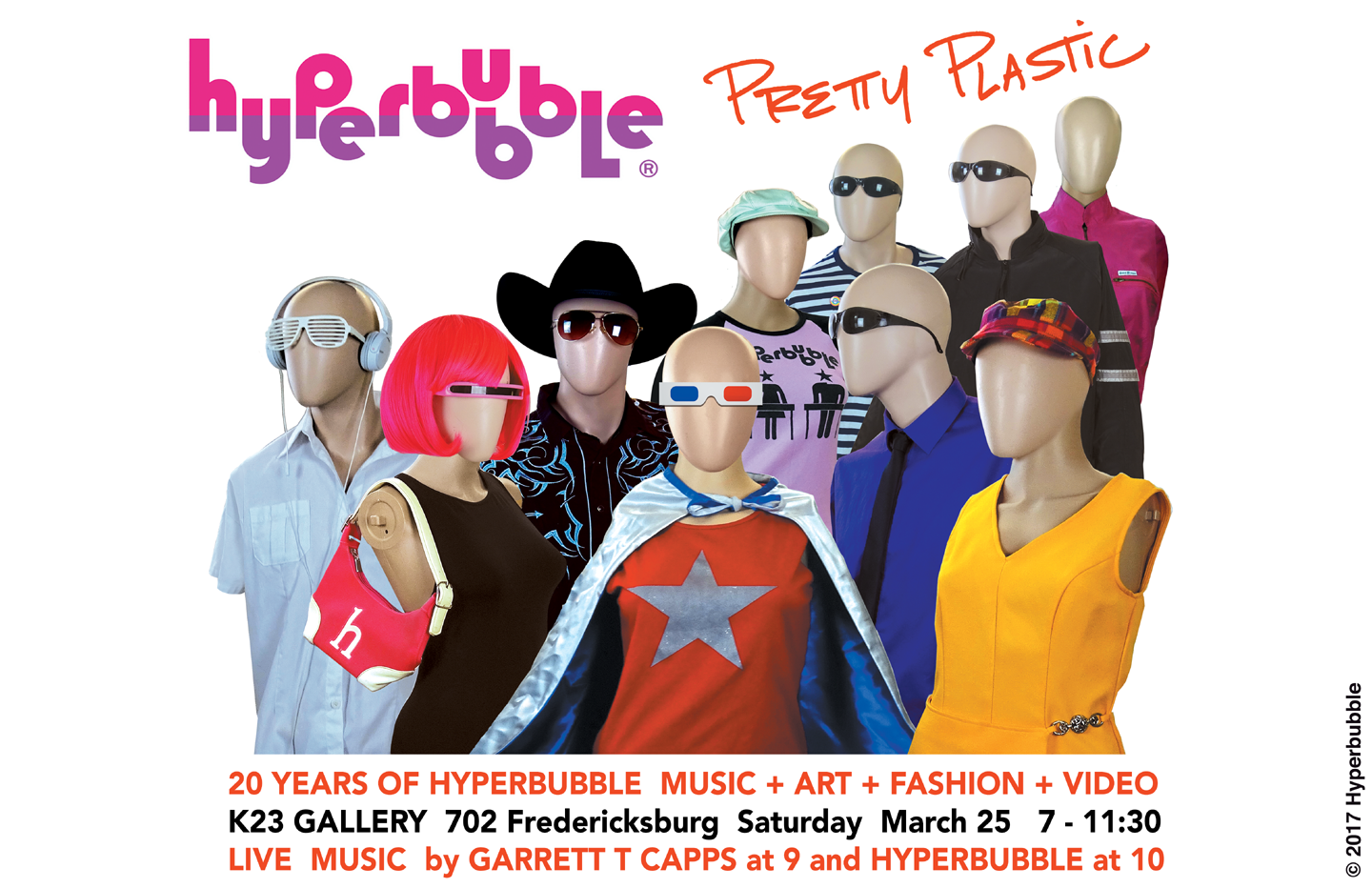 20 years of Hyperbubble music + art + video + fashion!