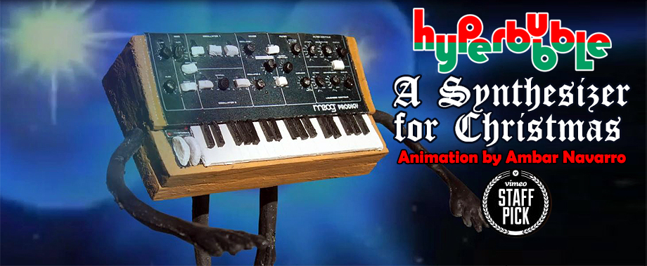 A Synthesizer for Christmas animated Hyperbubble video 2013